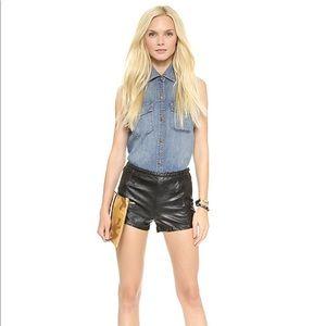 High Waisted Vegan Leather BlankNYC Shorts